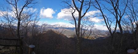 鳴虫山山頂から